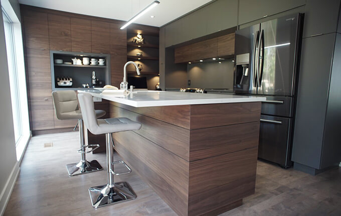 Armoires cr abec armoire de cuisine blainville par for Armoire de cuisine excellence blainville